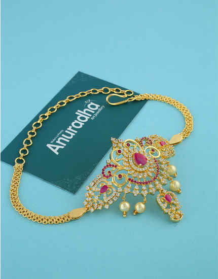 Adorable Gold Finish Stunning Bajuband For Wedding Wear