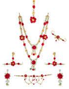 Pink Colour Very Classy Designer Halddi Flower Jewellery For Wedding