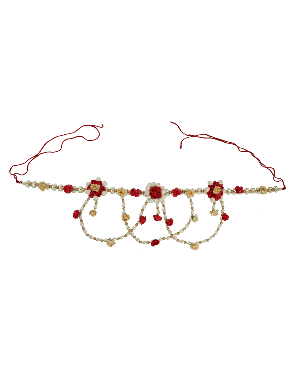 Fashionable Flower Jewellery Styled With Pearls Beads Fancy Necklace