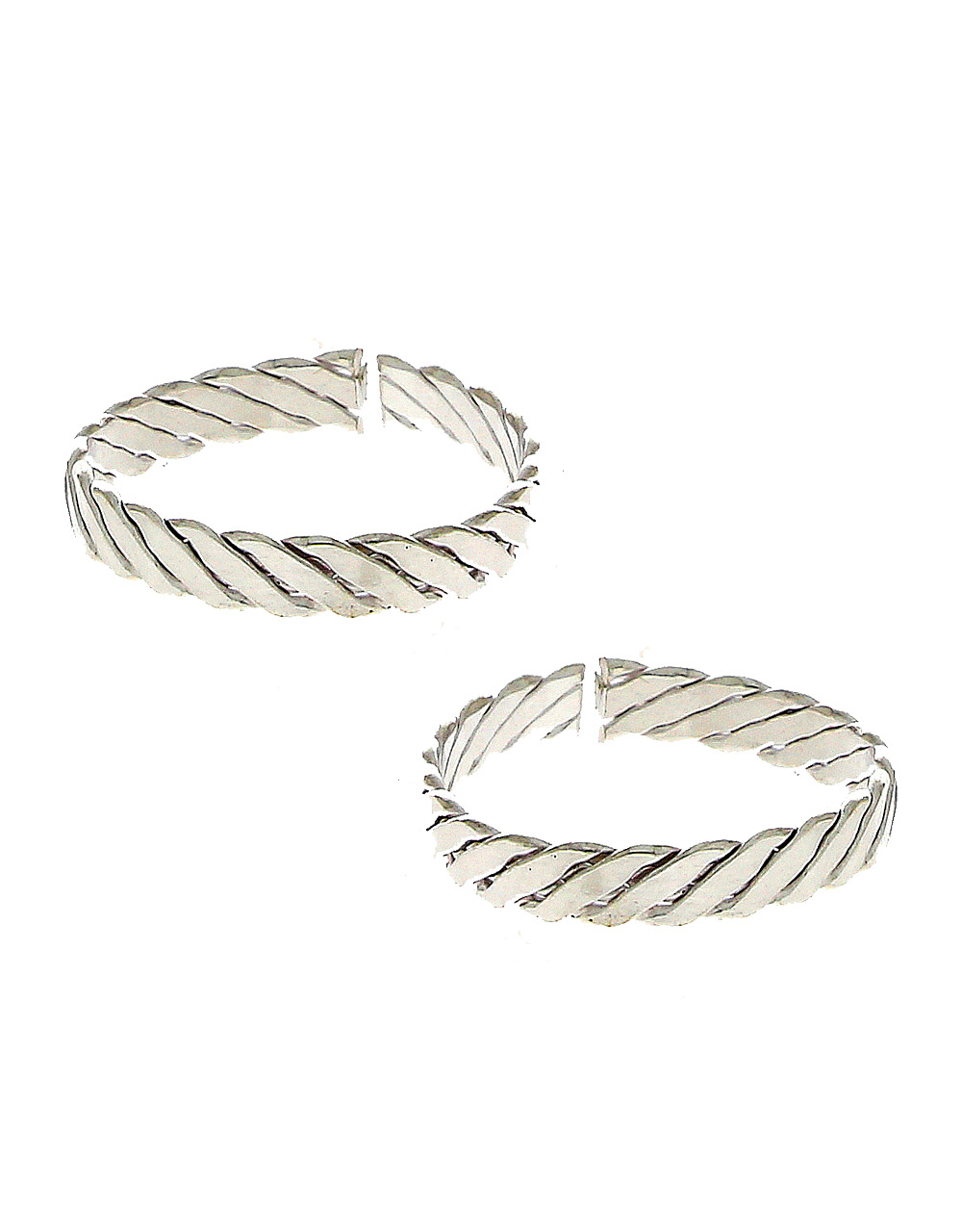 Simple Silver Finish Toe Ring For Women