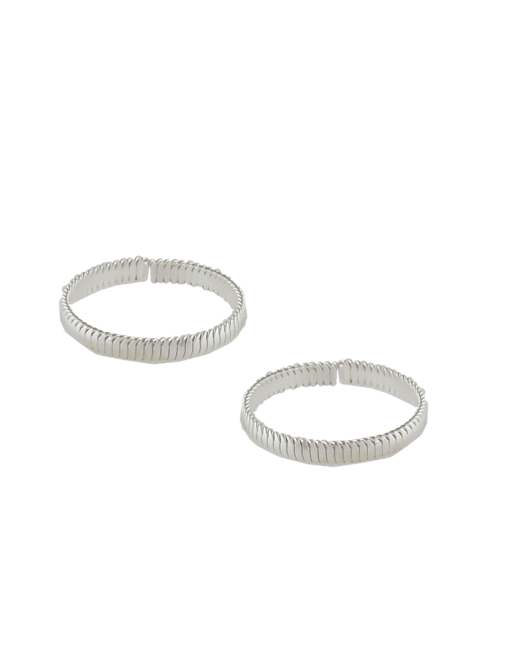 Simple Silver Finish Daily Wear Toe Ring