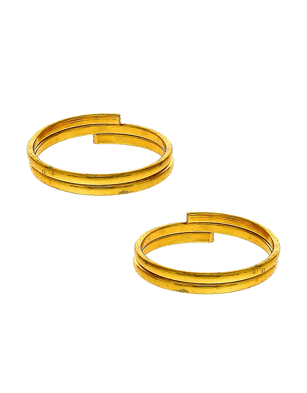 Gold Finish Fancy Artificial Toe Ring Bichudi