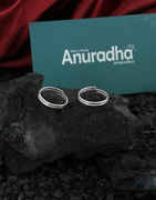 Simple Silver Finish Adjustable Fancy Bichiya Ring