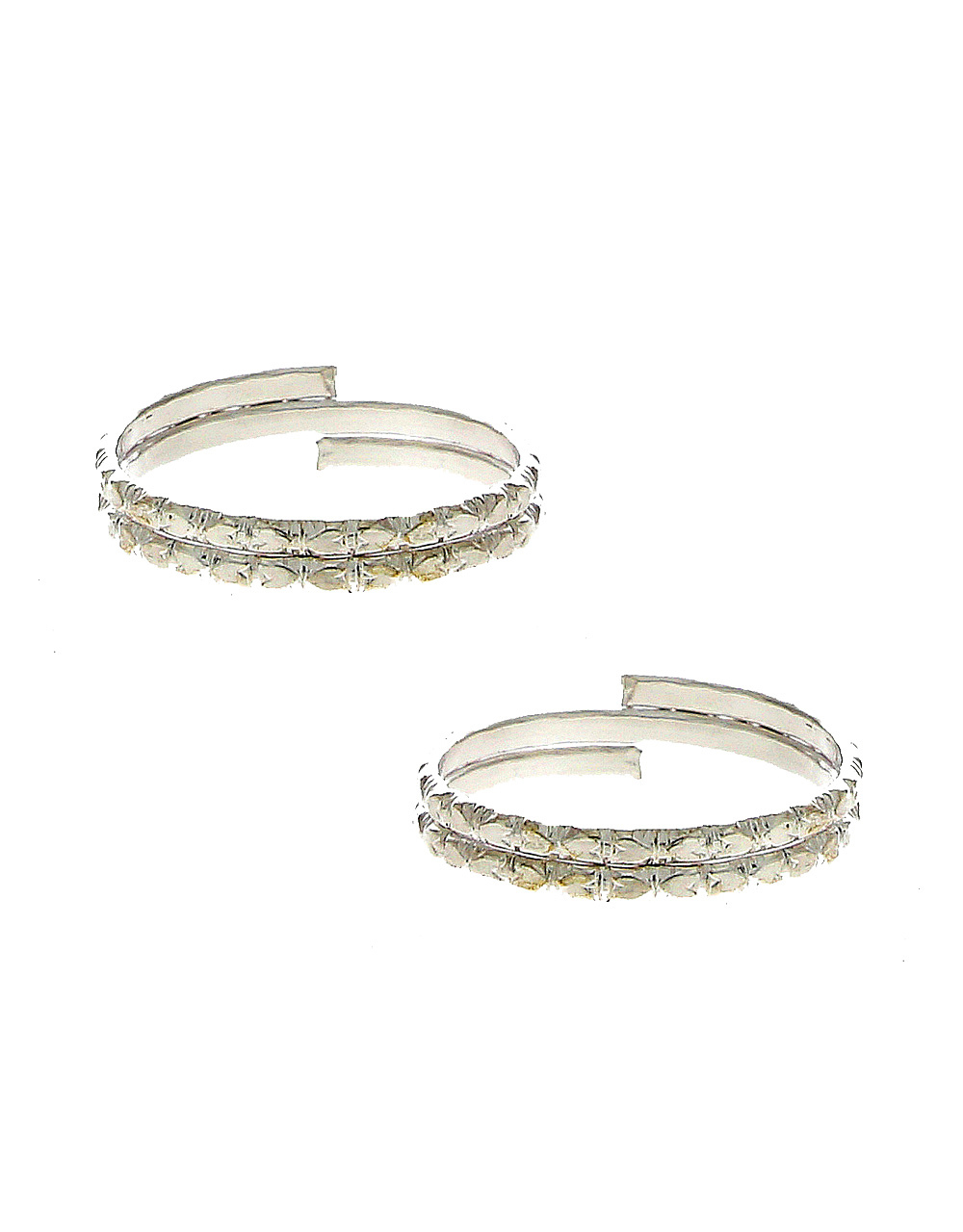 Simple Silver Tone Daily Wear Toe Ring For Women