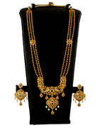 Matte Gold Finish Necklace Studded With Diamond Fancy South Indian Jewellery
