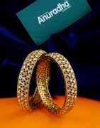 Antique Gold Finish Stunning Fancy Bangles For Girls Fancy
