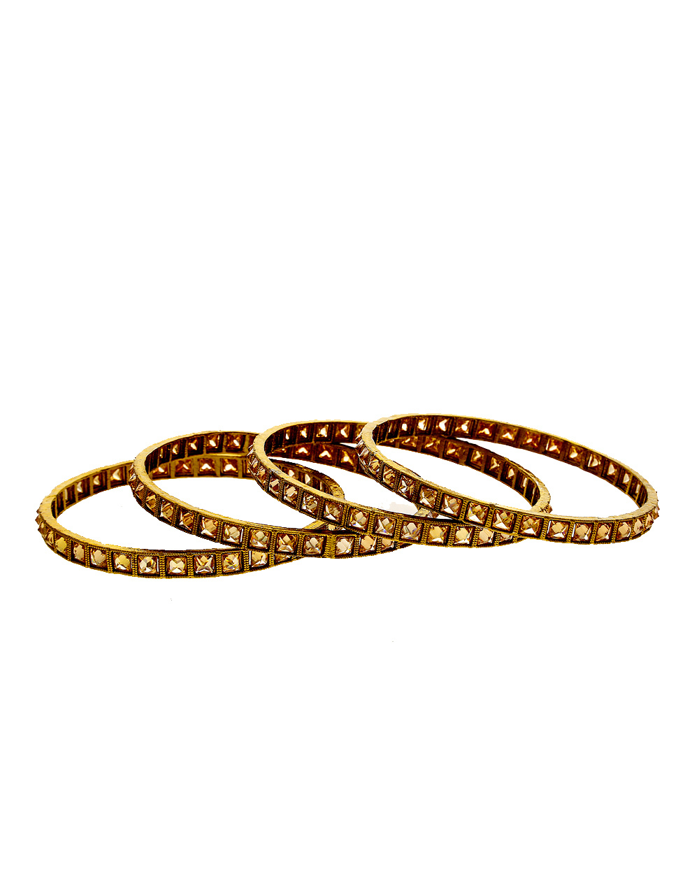 Beautiful Antique Gold Finish Traditional Bangles