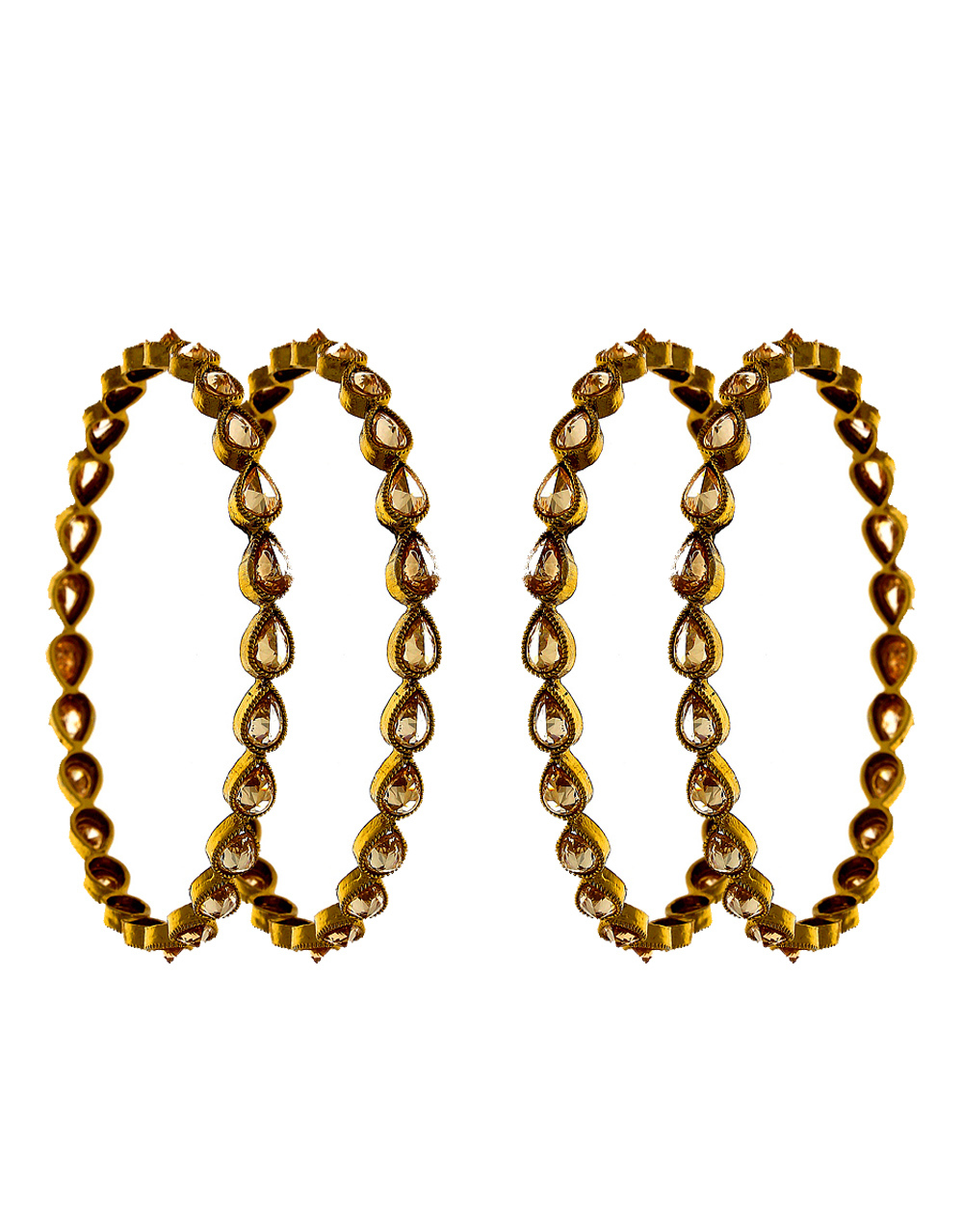 Simple Antique Gold Finish Stunning Bangles For Women