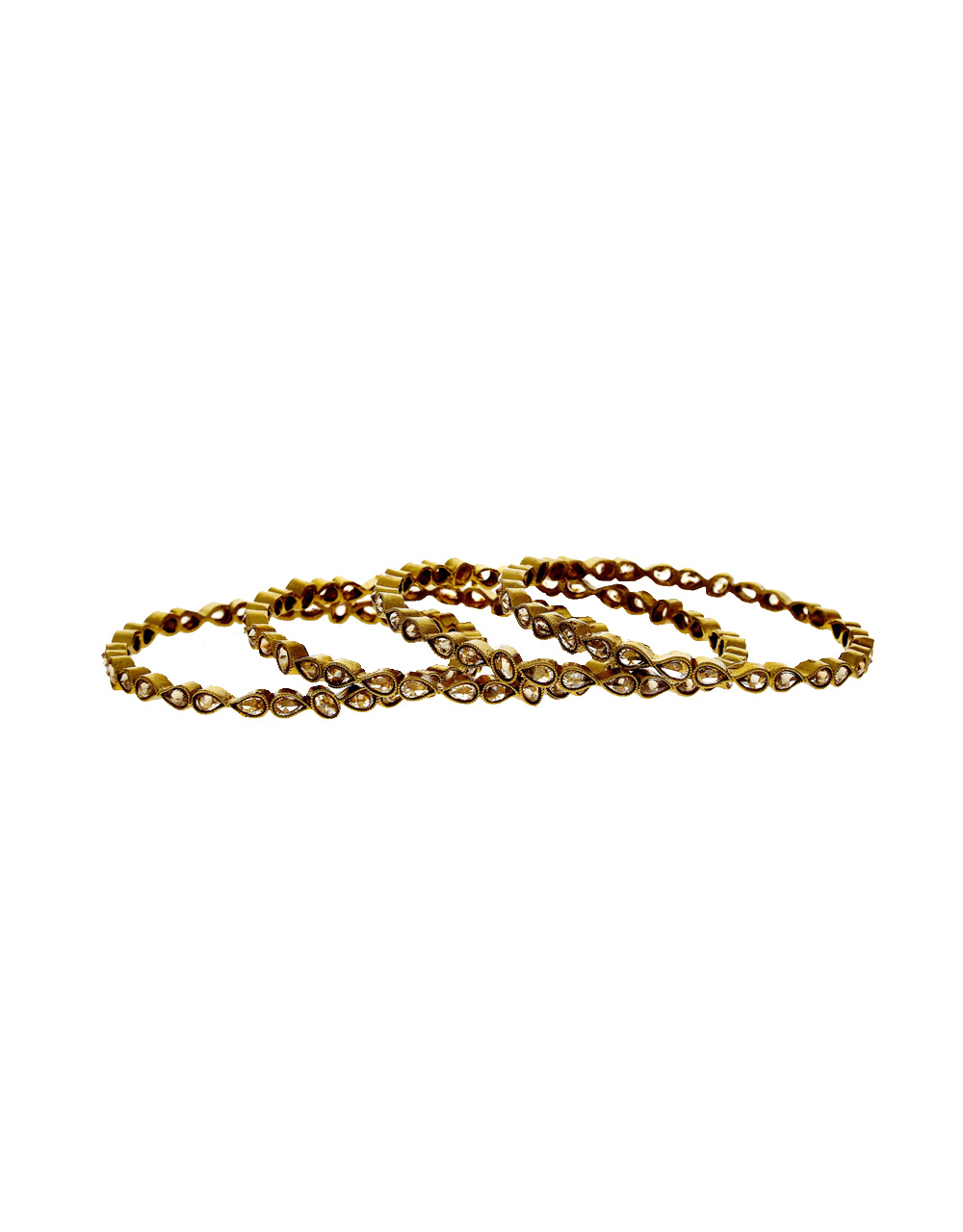 Traditional Antique Gold Finish Fancy Bangles For Wedding