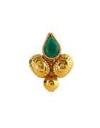 Green Colour Gold Finish Designer Dulhan Nath Fancy