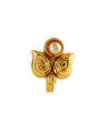 Fancy Gold Finish Pearls Styled Dulhan Nath For Girls