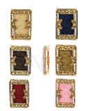 Fancy Unique Design Multi Colour Gold Finish Designer Saree Pin Fancy