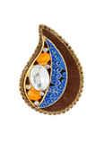Fancy Multi Colour Very Classy Gold Finish Stunning Saree Pin Fancy Wear