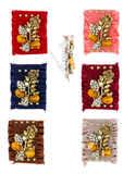 Designer Multi Colour Gold Finish Stunning Saree Combo Pin Set For Wedding