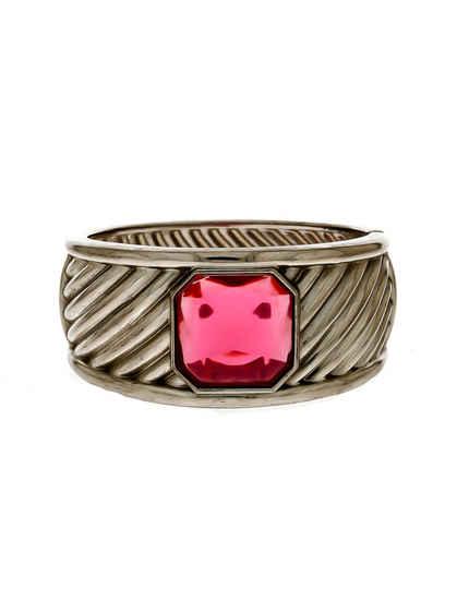 Pink Colour Oxidised Finish Fancy Hand Bracelets Kada For Navratri Jewellery