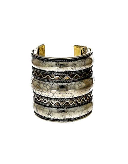 Designer Silver Oxidised Finish Fashionable Kada Bracelets For Girls