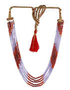 Red-Purple Colour Fashionable Beads Mala Jewellery For Girls Trendy