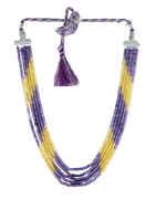 Yellow-Purple Combination Fancy Western Wear Cristal Real Mala