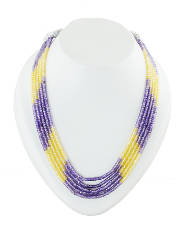 Yellow-Purple Combination Fancy Western Wear Cristal Real Mala