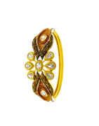 Designer Matte Gold Finish Bracelets Studded With American Diamond Bracelets