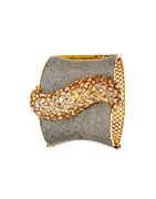 Unique Design Gold Finish Party Wear American Diamond Bracelets