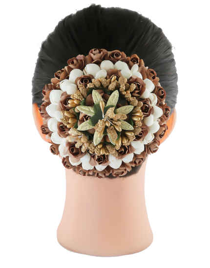 Brown Colour Floral Design Fashionable Hair Ambada Jewellery