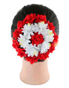 Red Colour Rose Flower Styled Fancy Hair Jewellery For Girls
