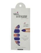 Violet Colour Simple Nail Art Sticker
