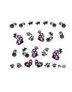 Pink Colour Black Finish Nail Art Design