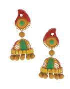 Mango-Red Colour Designer Trendy Handmade Jewellery Earrings For Women