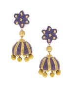 Purple Colour Wonderful Designer Handmade Jewellery Earrings For Women