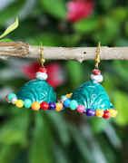 Multi Colour Simple Hanginig Earrings For Girls