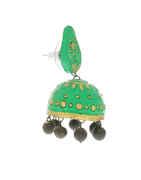 Green Colour Fancy Terracotta Jhumkaa Earrings