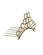 Gold Finish Bridal Crown Wedding Tiara For Girls & Women