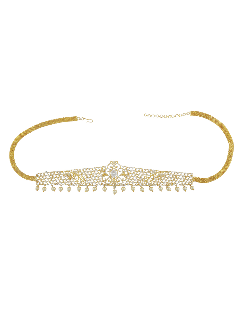 Goden Colour Kamarband Fashion Jewellery Traditional West Belt For Women