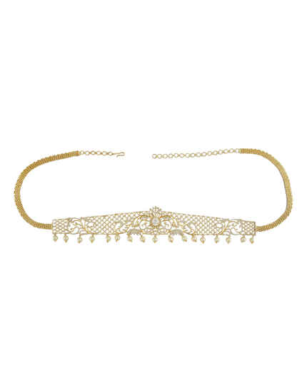 Golden Colour Adorable Traditional Kamar Patta Kamar Band For South Jewellery