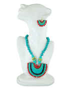 Turquoise Colour Fancy Eco Friendly Jewellery Necklace