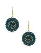 Green Finish Designer Classy Handmade Jewellery Necklace Set