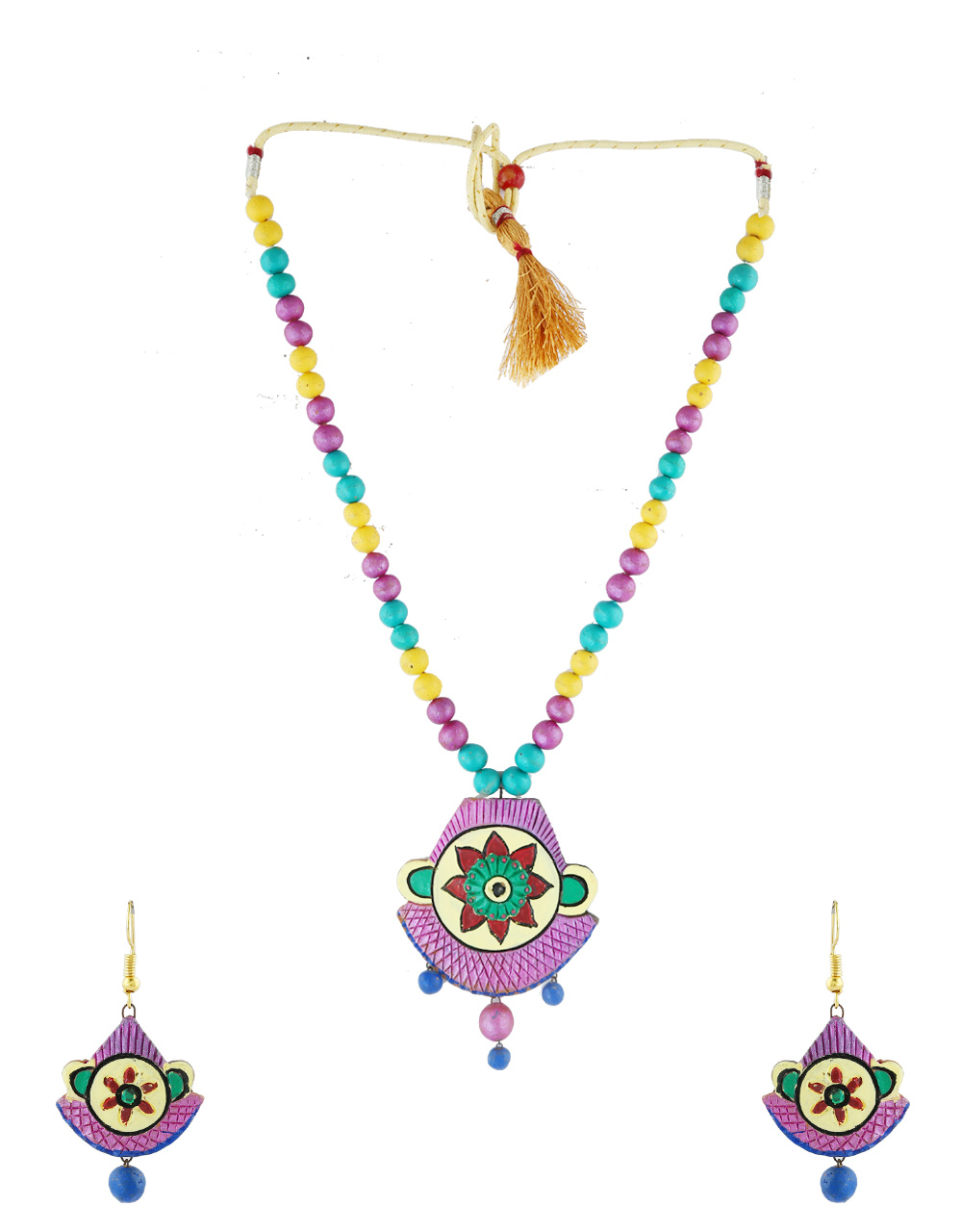 Multi Colour Wonderful Classy Terracotta Jewellery Necklace For Women