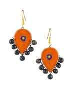 Fancy Orange Colour Terramart Terracotta Jewellery Set