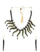 Black Colour Fancy Terracotta Jewellery For Women