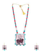 Baby-Pink Colour Stylish Terracotta Necklace Jewellery