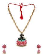 Fancy Black Colour Designer Handmade Terracotta Jewellery