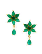 Green Colour Gold Finish Fancy Matching Necklace Jewellery