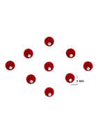 Simple Red Colour Round Shape Bindi Fancy