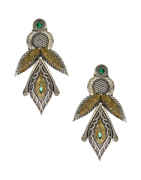 Green Colour Fancy Oxidized Earrings For Girls Fancy