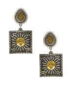 Oxidised Finish Sun Design Earring For Girls Trendy