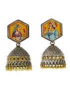 Jodha-Akbar Silver Oxidised Finish Jhumkaa Earrings
