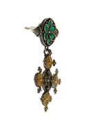 Green Colour Floral Design Fancy Oxidized Earrings