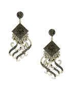 Oxidised Finish Fancy Earrings For Navratri Jewellery